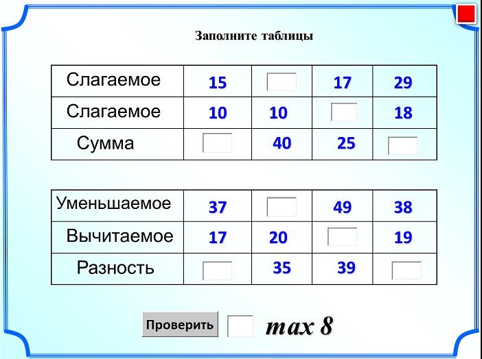 Скачать презентацию по математике для 4 класса устный счет